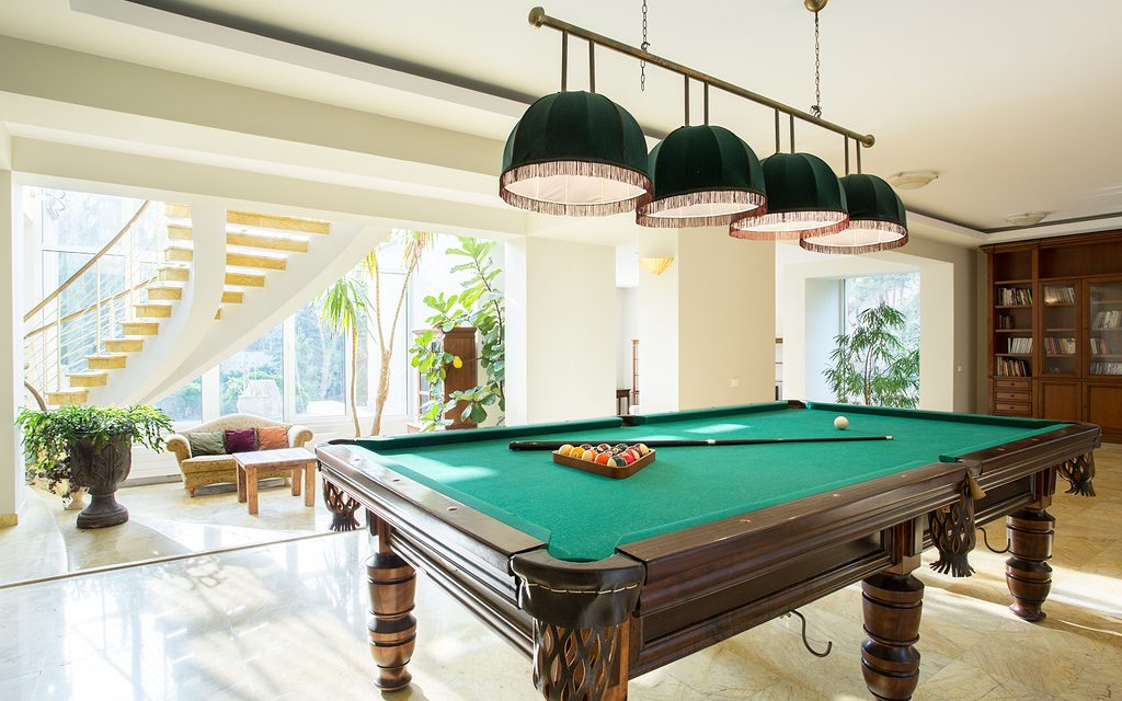 Pool Room Furniture Ideas amusing man room ideas with pool table and green shade ceiling 40 Classic Billiard Room Ideas For The Home