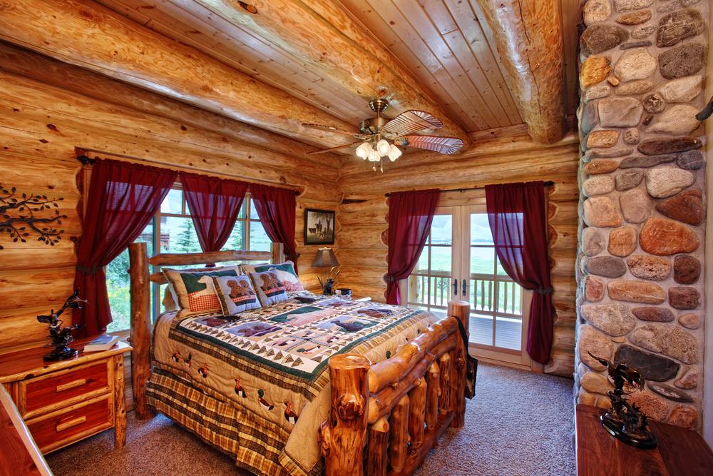 Western bedroom interior