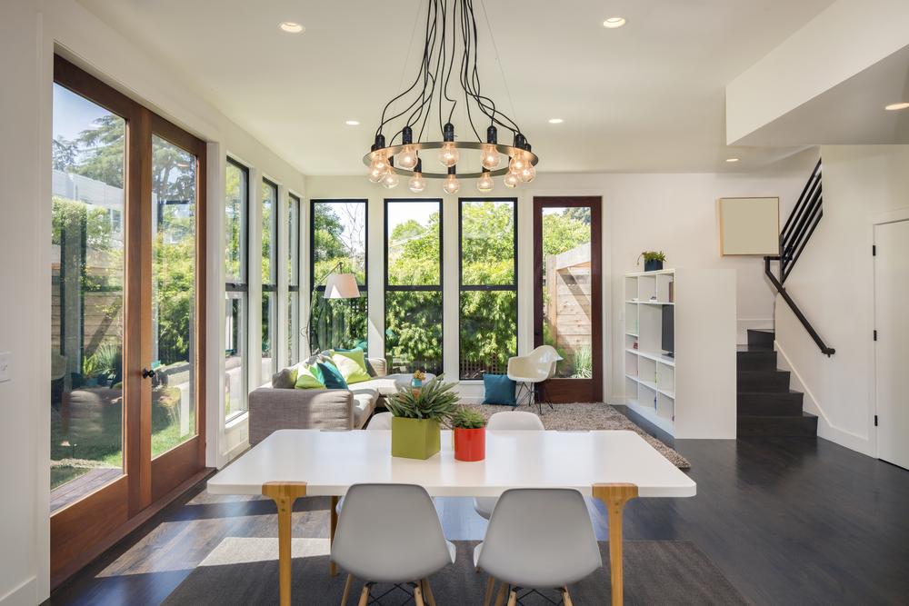 Mid century modern living area