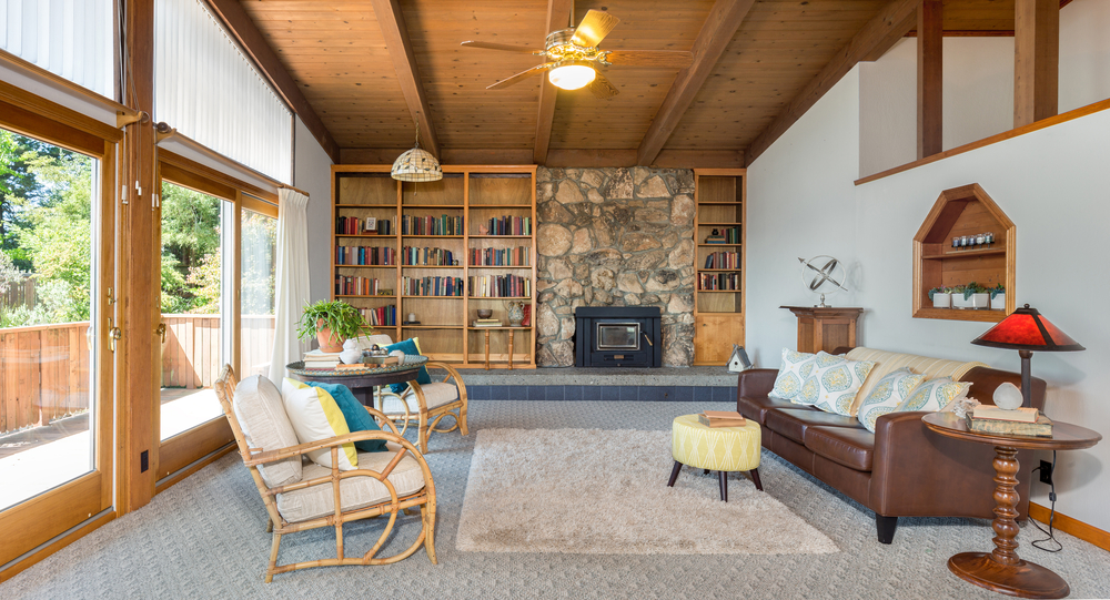 Beautifully staged Craftsman living room